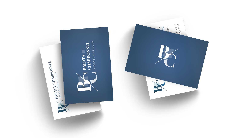 Cartes de visite Barata Charbonnel
