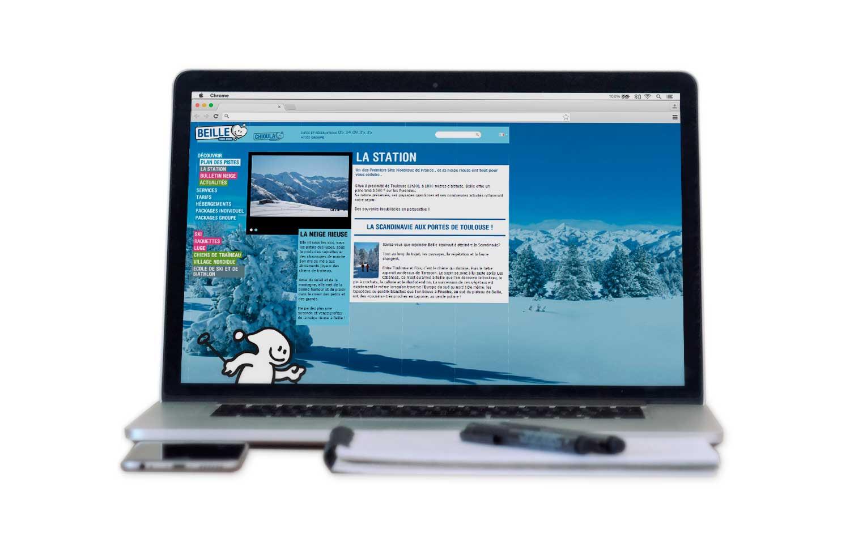 Site internet 2011 de la station de Beille sur ordinateur portable
