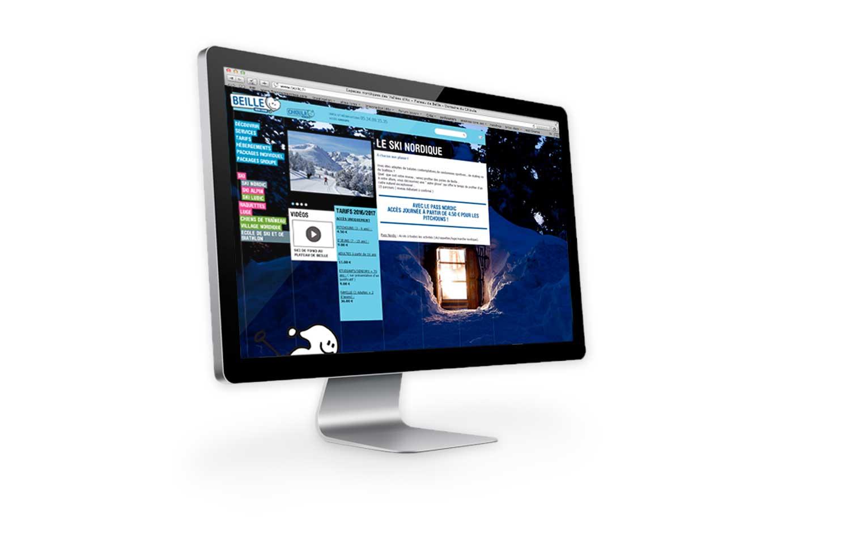 Site internet 2011 de la station de Beille sur ordinateur fixe