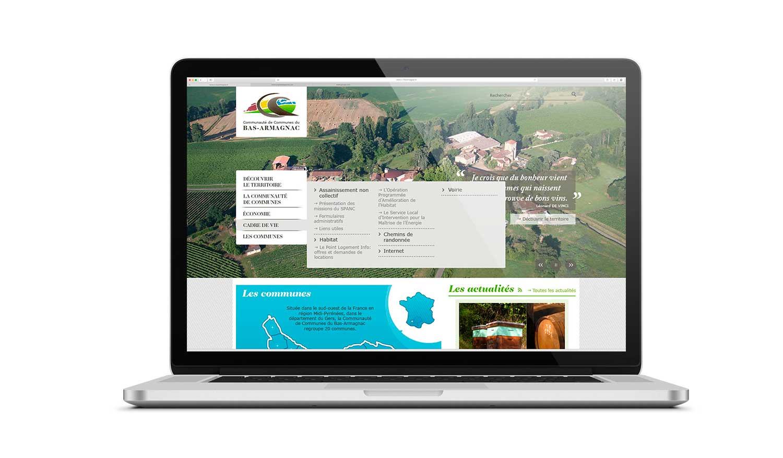 Site internet 2012 de la Communauté de Communes du Bas-Armagnac