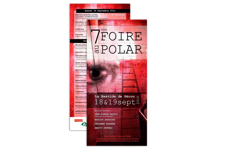 Flyer réalisé pour la Foire au Polar 2010