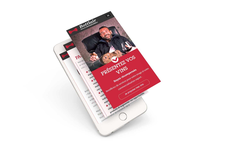 Site pro Bottlair sur mobile