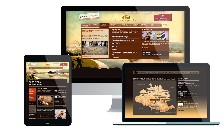 Site internet 2011 de présentation des Grands Sites d'Ariège