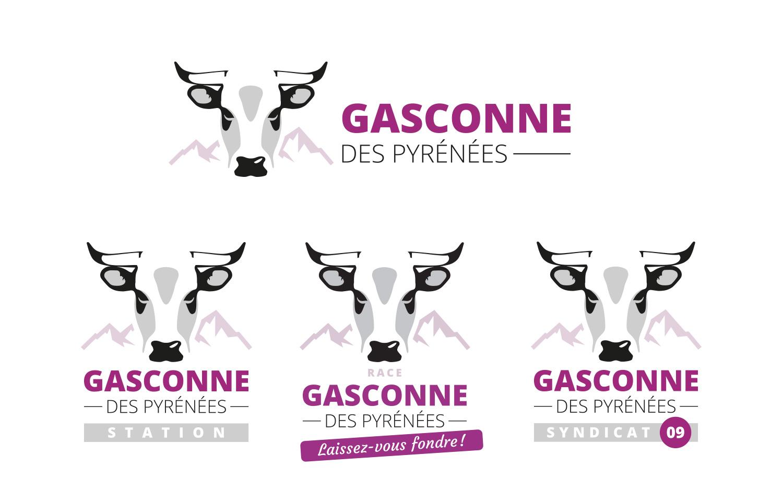 Quelques déclinaisons du logo Gasconne des Pyrénées