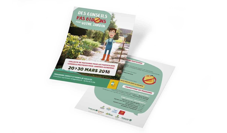 """Flyer """"Des conseils pas bidons pour votre jardin"""" pour le PNR"""