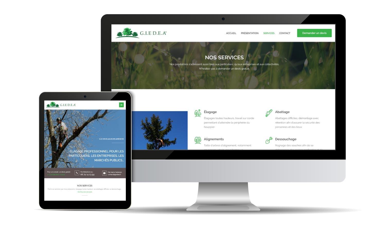Site internet responsive du GIE des Élagueurs Ariégeois