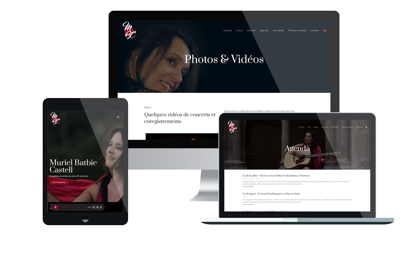 Site internet responsive de la chanteuse Muriel Batbie Castell