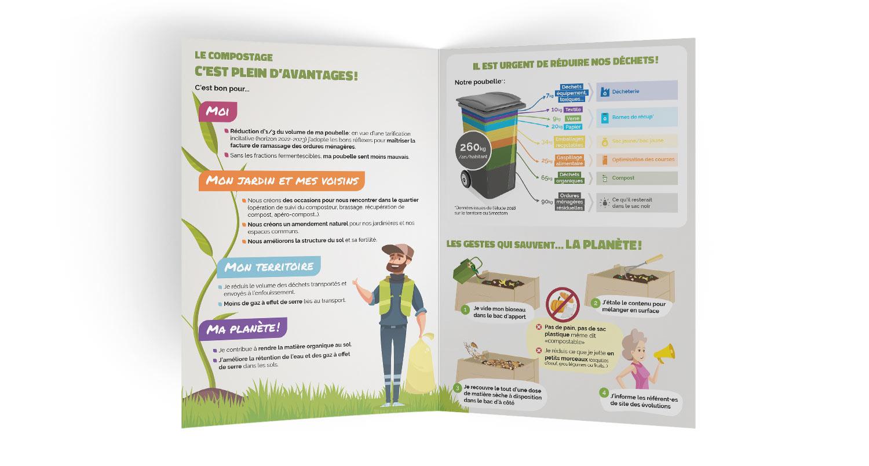 Dépliant de promotion du compostage collectif