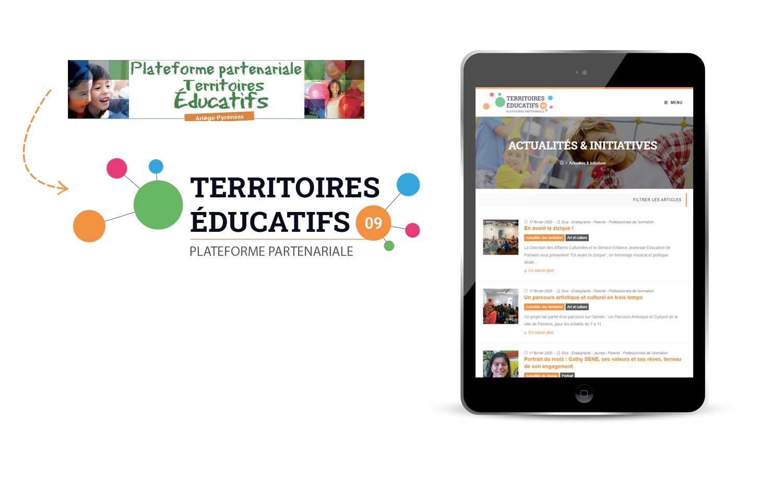Logo et site internet de la plateforme partenariale Territoires Éducatifs 09