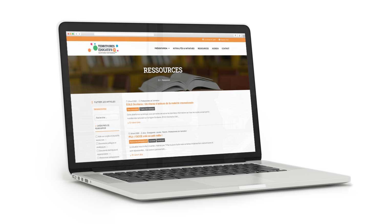 Site internet de la plateforme partenariale Territoires Éducatifs 09